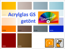 Acryl, Platte, getönt, GS- PLEXIGLAS