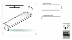 Stoßverbinder Aluminium-Fensterbank