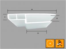 Deckelverbreiterung für Rollladenkastendeckel