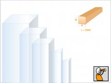 Acryl GS, Stab, vierkant - PLEXIGLAS