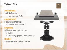 TWINSON Click - Montagesystem ohne Schrauben