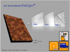 Verbundplatte, Alu(Kern)Alu, Design/weiß