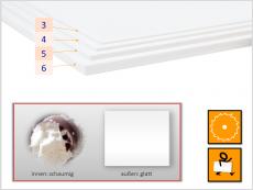 PVC-Freischaumplatte weiß
