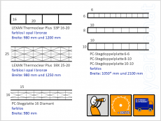 PC-Hohlkammerplatte S3P 16-20 bronze - LEXAN