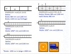PC-Hohlkammerplatte multi UV10 10-10 opal-weiß