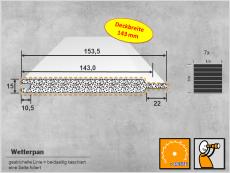 Nut- und Federprofil - Schaumprofil - WETTERPAN