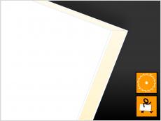 Verbundplatte, PVC(Kern)PVC, weiß/weiß