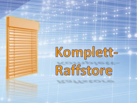 Raffstore, KOMPLETT (mit Blende)