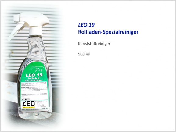 LEO19 Rollladen-Spezialreiniger