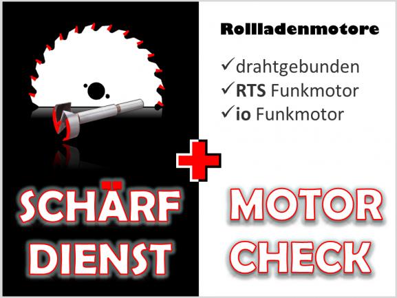 Schärfdienst + Motorcheck