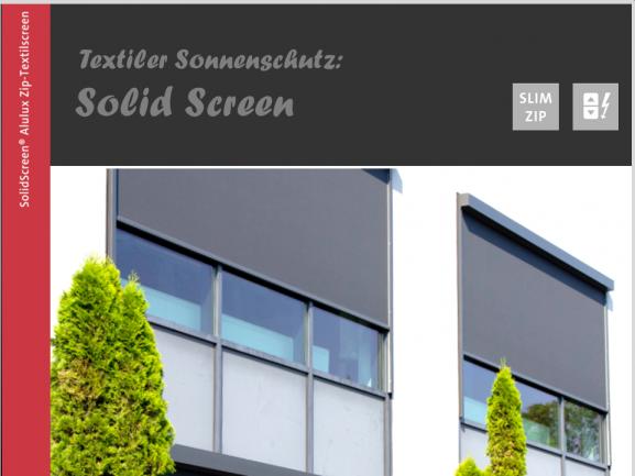 Texiler Sonnenschutz, SOLID SCREEN - Alulux