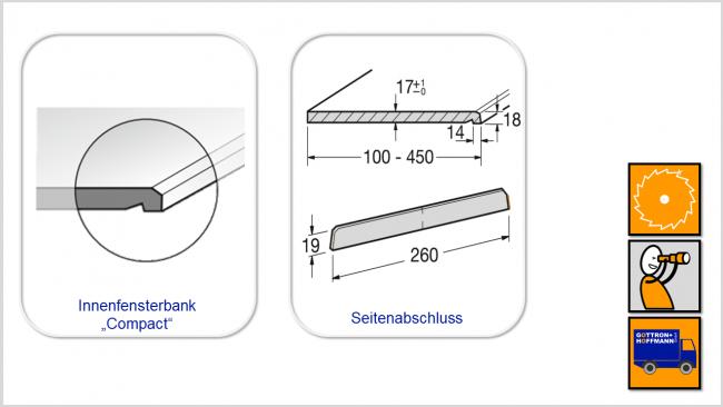 Innen-Fensterbank COMPACT - WERZALIT